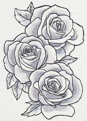 Pin By Ashia Williams On Bloemen Rose Drawing Tattoo Roses Drawing Flower Drawing