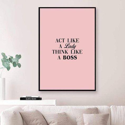 Lady Boss Canvas - 30 x 45cm / Unframed Canvas Print