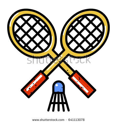 Cartoon Badminton Stock Images Royalty Free Images Badminton Royalty Free Images Tennis Racket