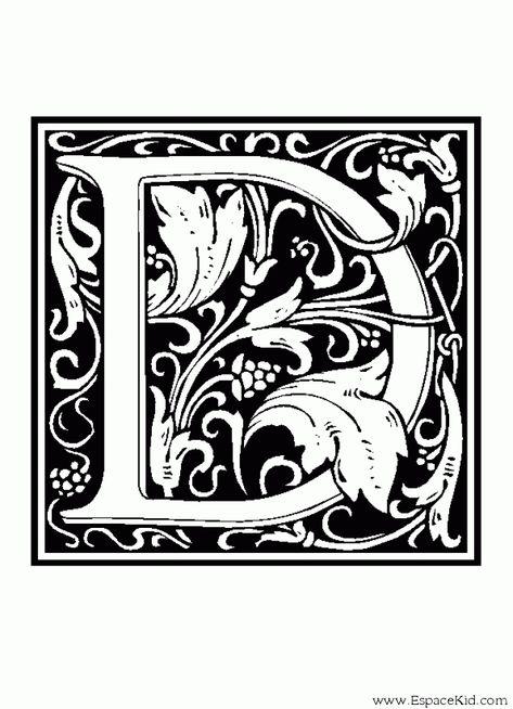 Coloriage Lettre D Coloriages Lettrine Lettres Alphabet