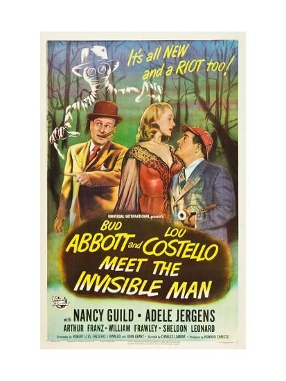 Abbott And Costello Meet The Invisible Man Abbott And Costello Meet The Invisible Man Bud Abbott Adele Jergens Lou Costello 1951 Photo Invisible Man Abbott Costello William Frawley