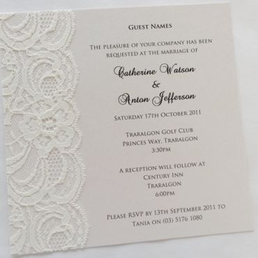 Our Sally Wedding Invitation Gives You Plenty Of E To Include All The Details About Your Day Without Crowding Invite We Can Also Custom