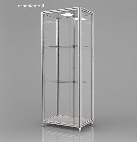 Ante Scorrevoli In Plexiglass.Espositore Vetrina Es Vt50 80plx Della Linea Argurion Chiusa Con