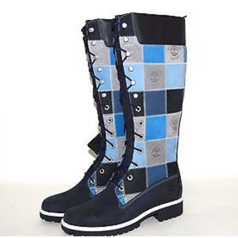 Timberland Shoes | Timberland Blue Patchwork Weatherproof