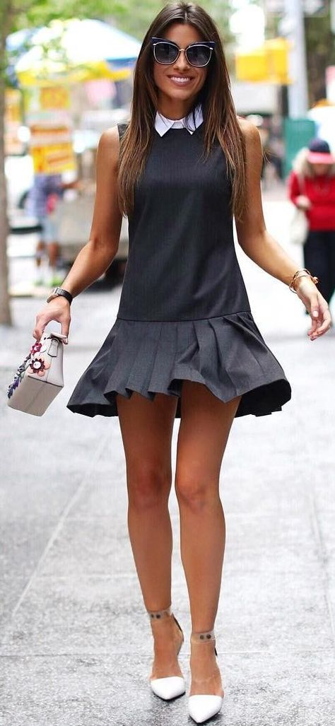 #trending #fall #outfitideas   LBD + Pop Of White
