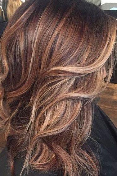 Brown Hair With Copper Blonde Highlights Hair Styles Carmel Hair Hair Color Caramel