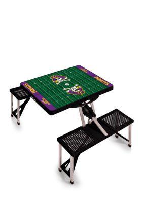 Picnic Time East Carolina Pirates Portable Table Purple One Size