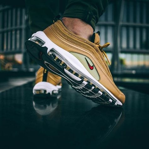 897f2f608208f Rate 1 to the NIKE AIR MAX 97 OG RETRO METALLIC GOLD Follow @hypemonsterz #  #hypemonsterz . . . #hype #hypestyle #hypeman #sneakers #sneakersaddict ...