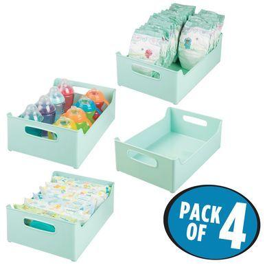 Plastic Baby Kids Organizer Bin For Storage 14 3 X 10 X 5 In 2020 Organizing Bins Organization Kids Baby Food Jars