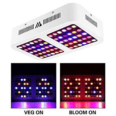 Amazon Com Morsen Reflector Series 600w Led Grow Light Full Spectrum For Indoor Plants With Veg And Bloom Swit Led Grow Grow Lights Led Grow Lights