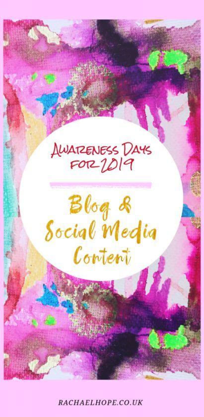 Social Media Awareness Days for 2019 | Love Learning