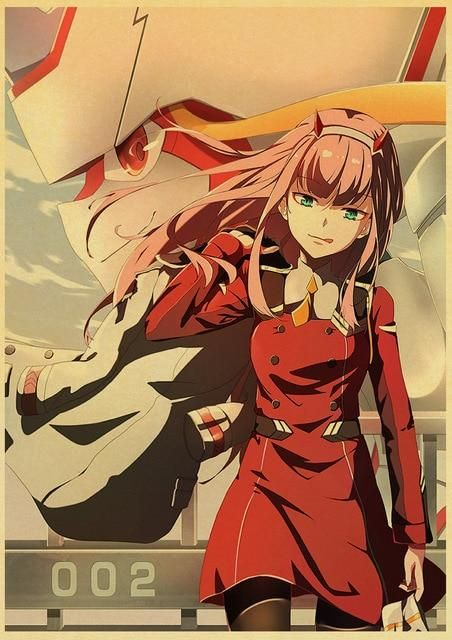 Classic Anime DARLING in the FRANXX Kraft Paper  Retro Posters Painting Wall Poster Modern Art Poster For Kids Room/Bar Decor - 30X21CM / Q043 25