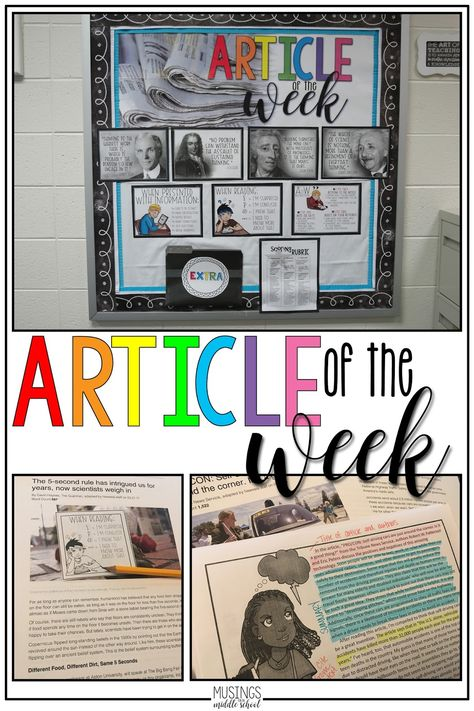 Making an Article of the Week Routine Work in Middle School