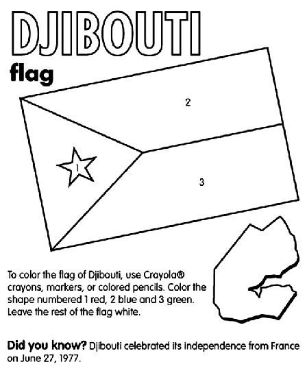 Djibouti Coloring Page Flag Coloring Pages Coloring Pages Flag