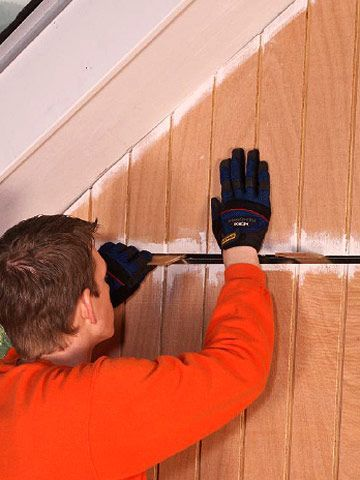 The Best Method For Siding A Wall On A Budget Diy Exterior Siding Exterior Panel Siding House Siding Installation