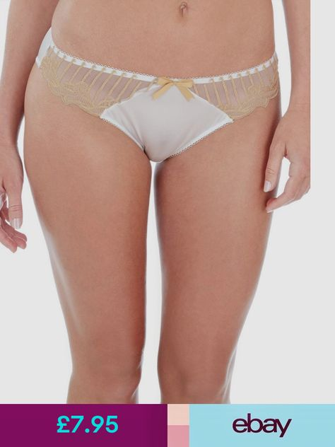 New Charnos Lingerie Charnos Sienna Thong 1295120 Ivory//Gold