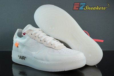 NIKE THE 10 AIR FORCE 1 LOW WHITE VIRGIL ABLOH OFF WHITE AO4606-100 NEW