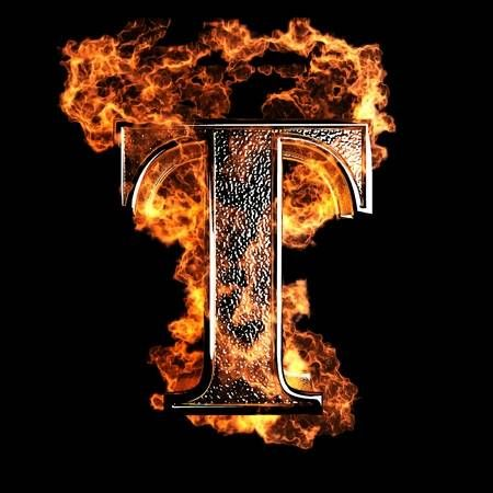 Burning Letter Made In 3d Graphics Lettering Alphabet Fonts Lettering Lettering Alphabet