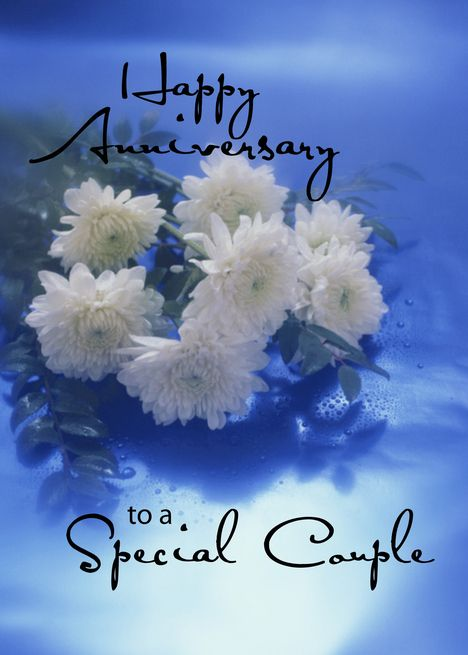 For Couple Wedding Anniversary White Flowers On Blue Card Ad Ad Anni Happy Anniversary Wishes Happy Wedding Anniversary Wishes Happy Anniversary Wedding