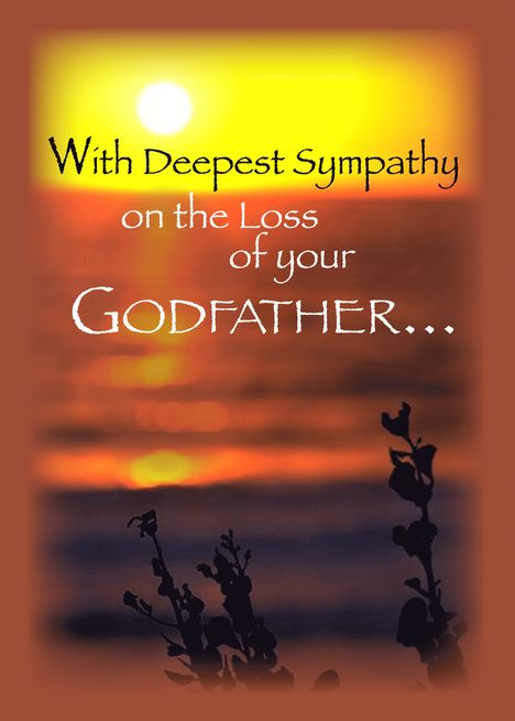Sunset Sympathy Loss Of Godfather Card Ad Sponsored