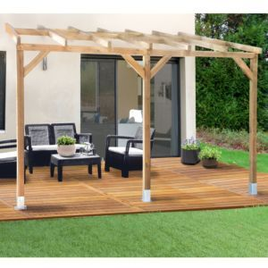 Backed Pergola Treated Wood 3x3 7 M Backed Pergola Treated Wood Polycarbonate Roof 3x3 7 M In 2020 Pergola Pergola Cost Modern Pergola