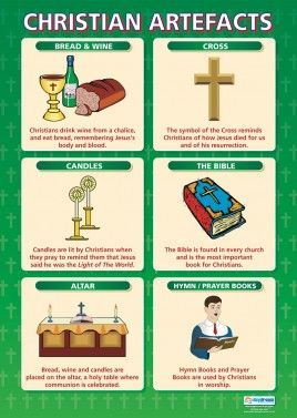 From our Religious Education poster range, the Christian Artefacts Poster is a great educational resource that helps improve understanding and reinforce learning.