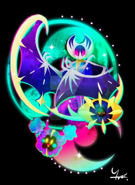 Cosmog Cosmoem And Lunala By Ilona The Sinister On