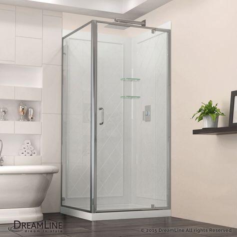 Flex 36 Inch X 76 75 Framed Corner Shower Kit