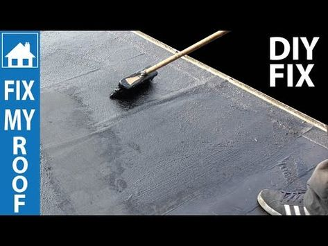 Diy Flat Roof Repair Easy Paint On Fix Youtube Flat Roof Repair Leaking Roof Roof Leak Repair