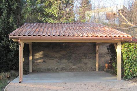 Abri voiture 1 pente 300Mx400M - Cerisier  abris de jardin en - fabricant de garage prefabrique