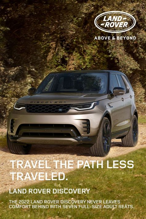 The 2022 Land Rover Discovery never leaves comfort behind with seven full-size adult seats.