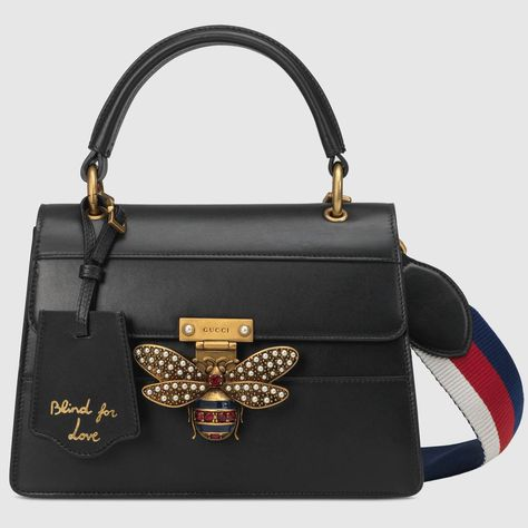9576cad62ec92f Shop the Queen Margaret small top handle bag by Gucci. The Queen Margaret  line mixes iconic Gucci details with newly established codes.