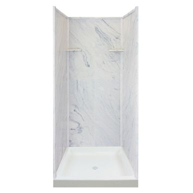 Transolid Ks36 91 Solid Surface 36 In X 72 In Alcove Shower Wall