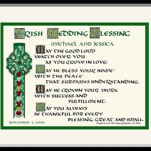 Irish Wedding Blessing Personalized Composed And Hand Etsy In 2020 Irish Wedding Traditions Irish Wedding Irish Wedding Blessing
