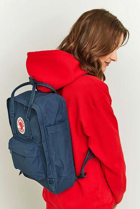 Fjallraven Kanken Royal Blue Pinstripe Backpack - blue at Urban Outfitters