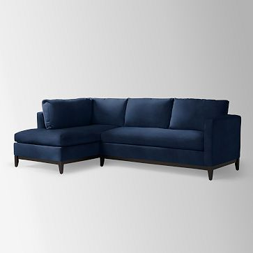 Blue Velvet Left Sectional   Tufted | Article Sven Modern Furniture |  Pacific Blue, Sectional Sofa And Scandinavian Furniture