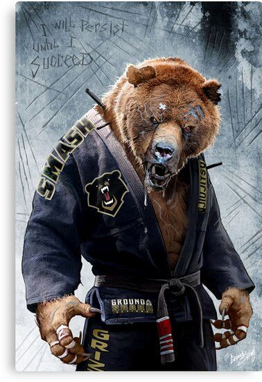 The Infamous Grizzly Bear Is Our Most Frequently Requested Animal Depiction Strong Ferocious Intelligent And Protective Jiu Jitsu Jiu Jitsu Tattoo Bear Art