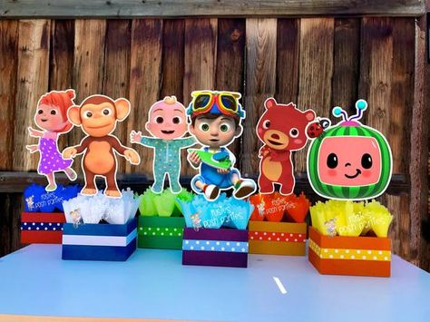 2nd Birthday Party For Boys, Birthday Party Themes, Birthday Decorations, Birthday Ideas, Party Centerpieces, Centerpiece Decorations, Monkey Centerpiece, Gift Table, Party Items