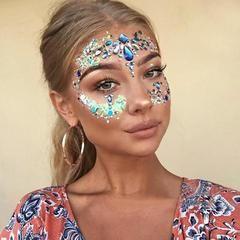 Face Eye Jewel Acrylic Rhinestone Body Art Sticker Tattoo Festival Glitter Festival Makeup Glitter Coachella Makeup