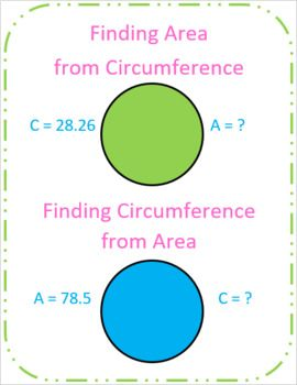 Finding Area From Circumference And Vice Versa With Images