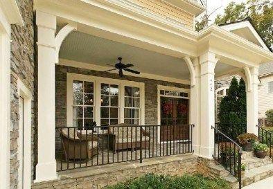 Awesome Farmhouse Front Porch Decor Ideas Frugal Living Front Porch Design Porch Design Porch Remodel