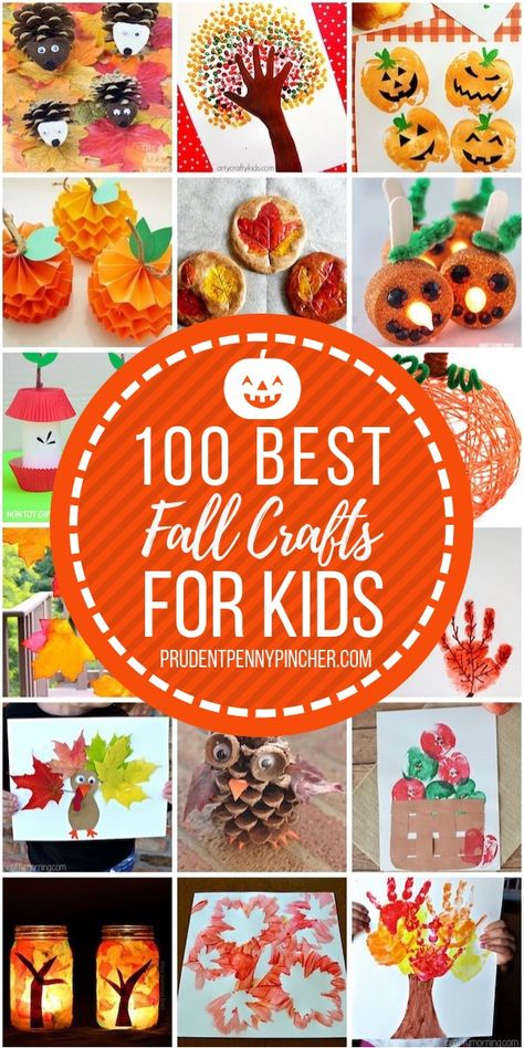 100 Best Fall Crafts for Kids Kids Crafts Fall crafts for kids best fall diy crafts - Diy Fall Craft Autumn Activities For Kids, Kids Fall Crafts, Toddler Crafts, Preschool Crafts, Halloween Crafts, Holiday Crafts, Easy Crafts, Decor Crafts, Wood Crafts