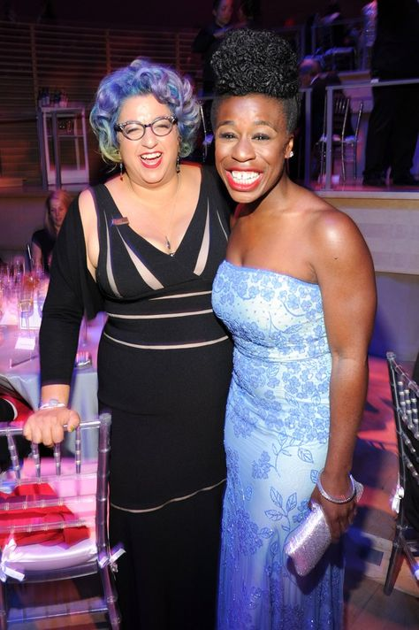 Pin for Later: These May Be the Most Influential Celebrities in the World  Orange Is the New Black creator Jenji Kohan joked with Uzo Aduba.