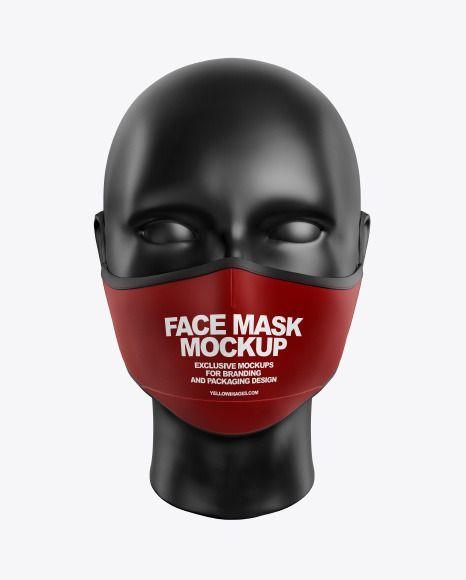 Download Face Mask Mockup In Apparel Mockups On Yellow Images Object Mockups Clothing Mockup Mockup Face Mask