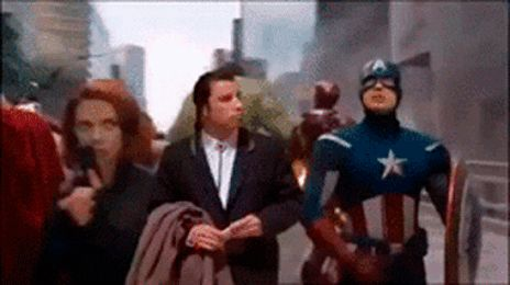 captain america civil war trailer confused travolta gif - Google Search