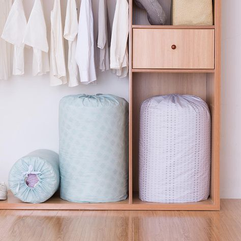 Organization Peva Quilt Drawstring Bag Quilt Storage Bag Household Moisture Proof Quilt Stuff Bag Bag Storage Quilt Storage Storage