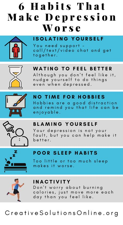 6 Habits That Make Depression Worse