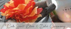 Cub Scout Blue & Gold Ceremony from Amy's Party Ideas