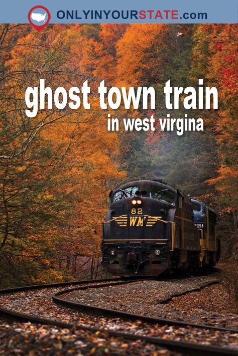 Take This Haunting Train Ride Through A West Virginia Ghost Town Travel Train Travel, Travel Usa, Nice Travel, Luxury Travel, Best Places To Travel, Places To See, West Virginia Vacation, Harpers Ferry West Virginia, Charleston West Virginia