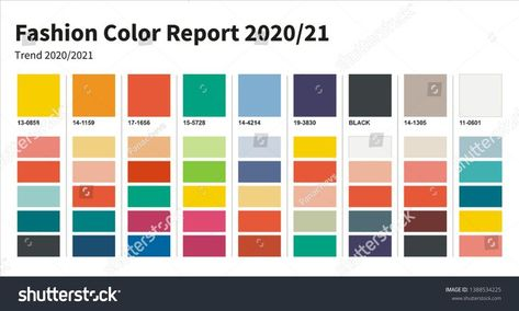 Fashion Color trend 2020-2021. An example of a color palette. Forecast of the fu...